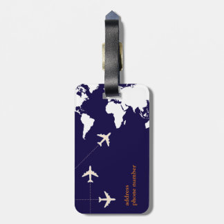 stylish airplane travel luggage tag