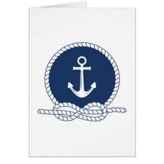 Stylish Anchor And Rope Card
