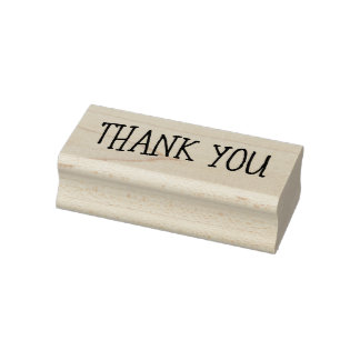 Stylish and Fun Thank You Rubber Stamp