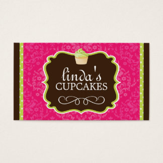 Stylish and Modern Cupcake Business Cards