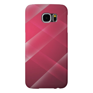 Stylish and Modern Red Wide Stripe Design Samsung Galaxy S6 Cases