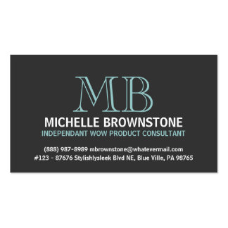 Stylish and Sleek Consultant or Rep Business Card