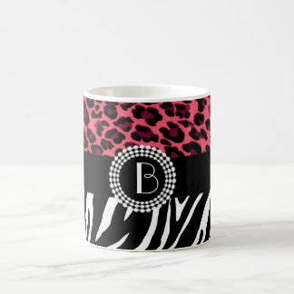 Stylish Animal Prints Zebra and Leopard Patterns Coffee Mug