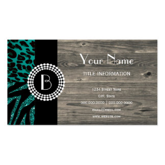 Stylish Animal Prints Zebra and Leopard Patterns Pack Of Standard Business Cards