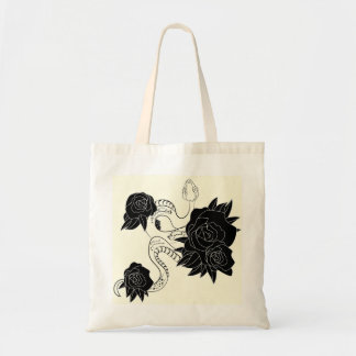 Stylish bag with Snake and roses print