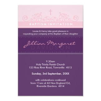 STYLISH BAPTISM INVITES :: elegant 2P