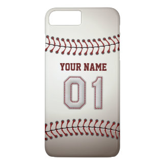 Stylish Baseball Number 1 Custom Name - Unique iPhone 7 Plus Case
