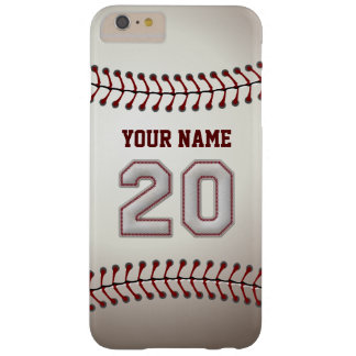 Stylish Baseball Number 20 Custom Name - Unique Barely There iPhone 6 Plus Case