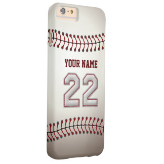 Stylish Baseball Number 22 Custom Name - Unique Barely There iPhone 6 Plus Case