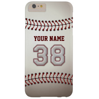 Stylish Baseball Number 38 Custom Name - Unique Barely There iPhone 6 Plus Case