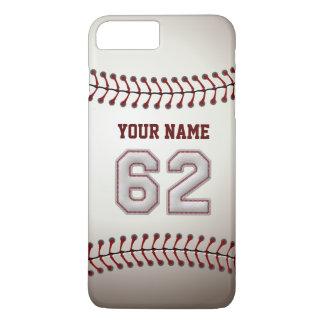 Stylish Baseball Number 62 Custom Name - Unique iPhone 7 Plus Case
