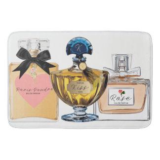Stylish Bath Mat, Vintage Perfume Bottles, Pretty Bathroom Mat