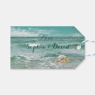 Stylish Beach Starfish Wedding Gifts Tag Pack Of Gift Tags