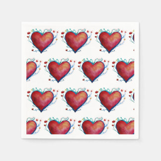 Stylish Beautiful Hearts Wedding  Napkins Disposable Napkins