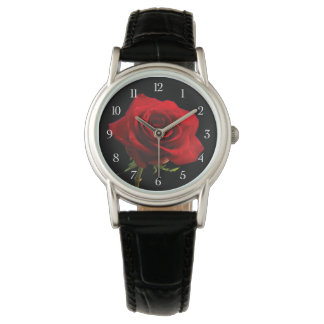 Stylish Beautiful Red Rose Watch