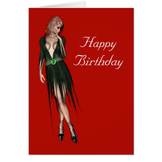 Stylish beautiful sensual woman card