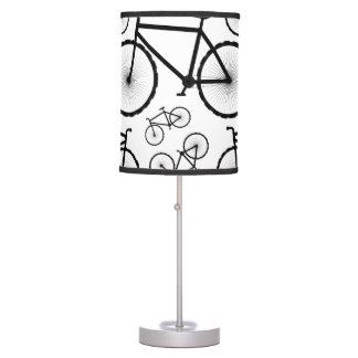 Stylish Bicycle Collage Desk Lamps