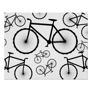 Stylish Bicycle Collage Poster