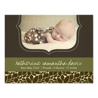 Stylish Birth Announcement Photo Card