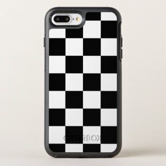Stylish Black and White Checkered Pattern OtterBox Symmetry iPhone 7 Plus Case