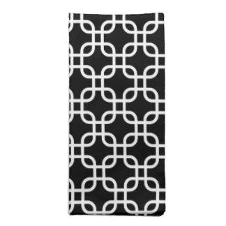 Stylish Black and White Geometric Links Napkin