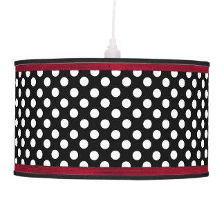 Stylish Black and White Polka Dot Hanging Pendant Lamp
