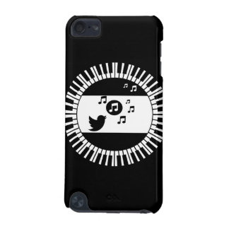Stylish Black and white song bird piano keys iPod Touch 5G Cases