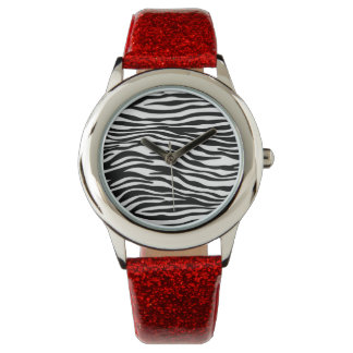 Stylish Black and White Zebra Stripe Wrist Watch