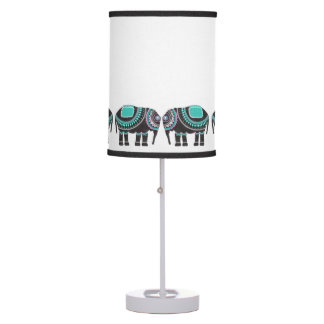 Stylish Black Decorative Elephant, Turquoise Table Lamp