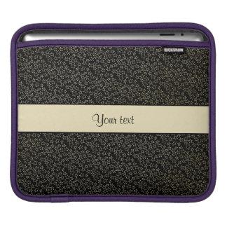 Stylish Black & Gold Foil Mini Stars iPad Sleeve