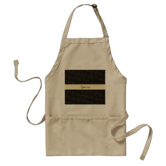 Stylish Black & Gold Foil Mini Stars Standard Apron