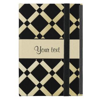 Stylish Black & Gold Squares iPad Mini Case