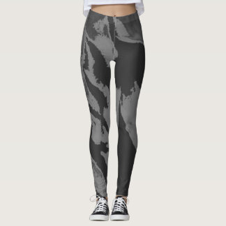 Stylish Black Gray Abstract - Leggings