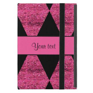 Stylish Black & Hot Pink Glitter Diamonds Case For iPad Mini