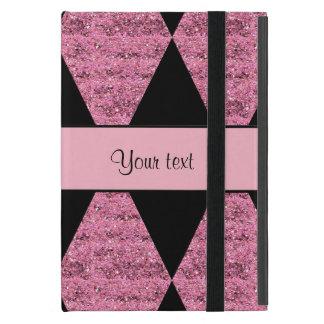 Stylish Black & Pink Glitter Diamonds iPad Mini Case