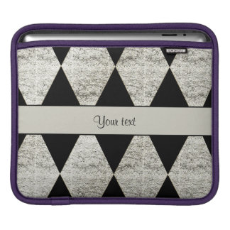 Stylish Black & Silver Glitter Diamonds iPad Sleeve