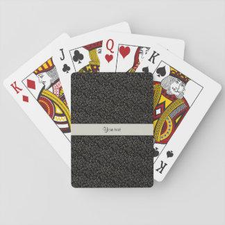 Stylish Black & Silver Glitter Mini Stars Playing Cards
