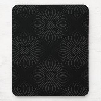 Stylish, black spirals design. mouse pad