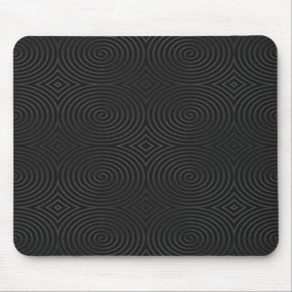 Stylish, black spirals design. mousepad
