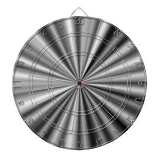 Stylish Black White Grey Silver Pattern Dartboard