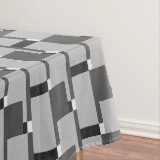 Stylish Black White Silver Grey Pattern Tablecloth