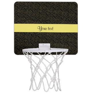 Stylish Black & Yellow Glitter Mini Stars Mini Basketball Hoop