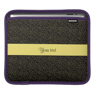 Stylish Black & Yellow Glitter Mini Stars Sleeves For iPads