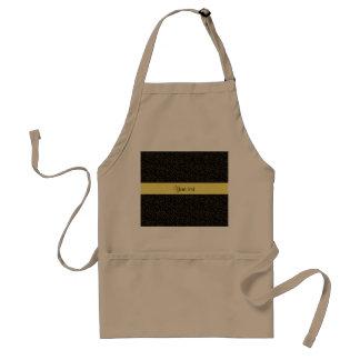 Stylish Black & Yellow Glitter Mini Stars Standard Apron