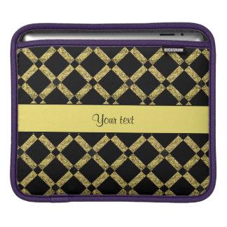 Stylish Black & Yellow Squares iPad Sleeve