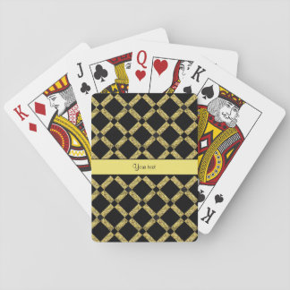 Stylish Black & Yellow Squares Playing Cards