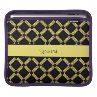 Stylish Black & Yellow Squares Sleeves For iPads