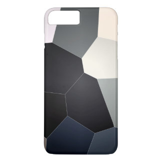 Stylish blue and black stained glass pattern iPhone 7 plus case