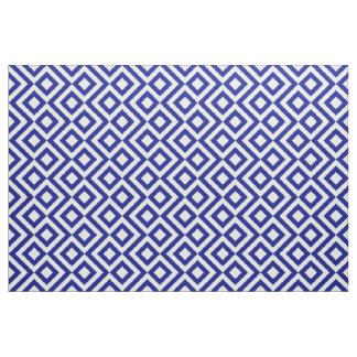 Stylish Blue and White Meander Fabric