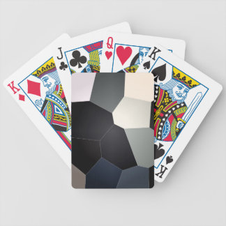 Stylish Blue Black Stained Glass Design Bicycle Playing Cards